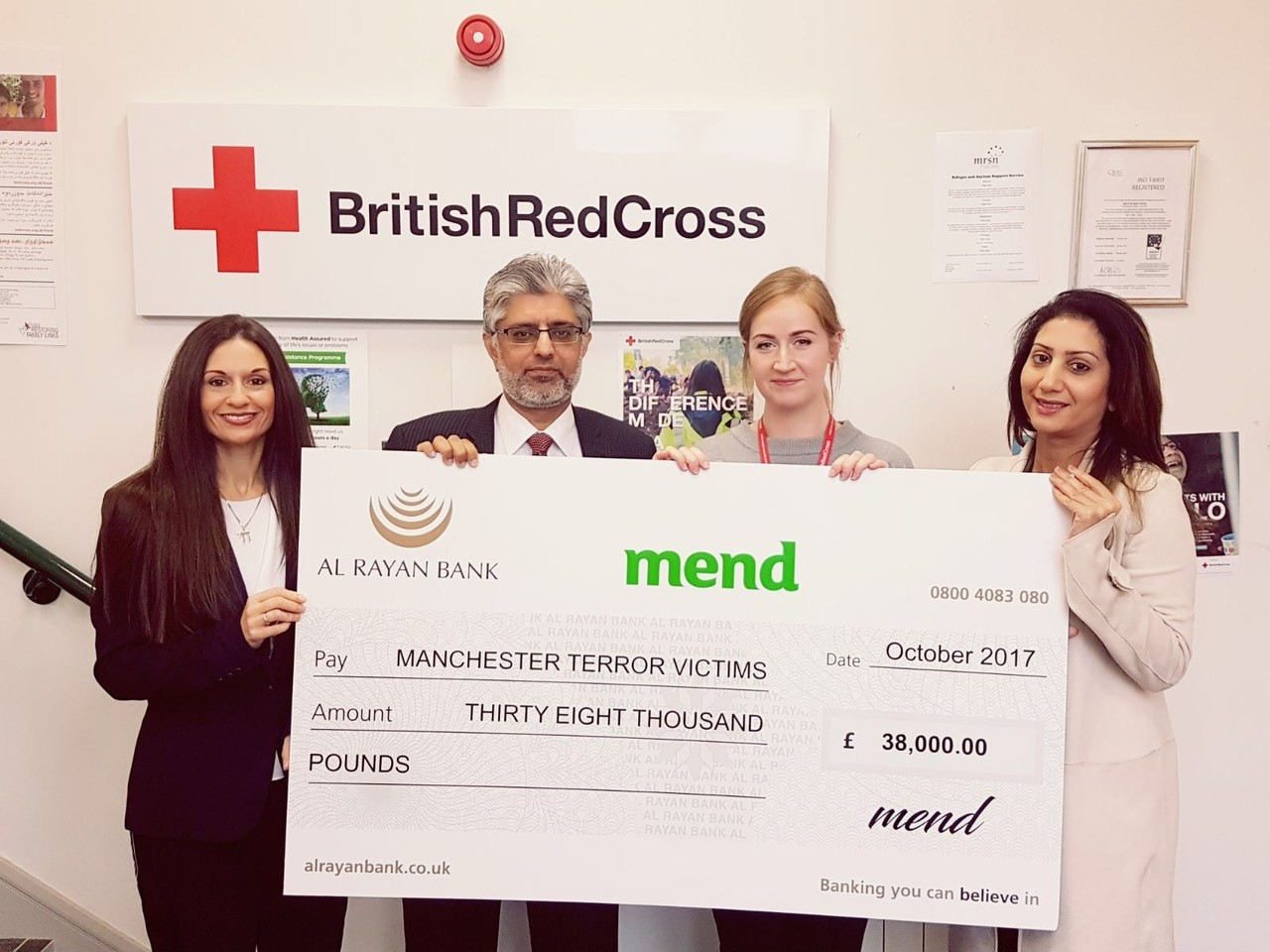 MEND raises £38,000 for the victims of the Manchester Arena terror attack