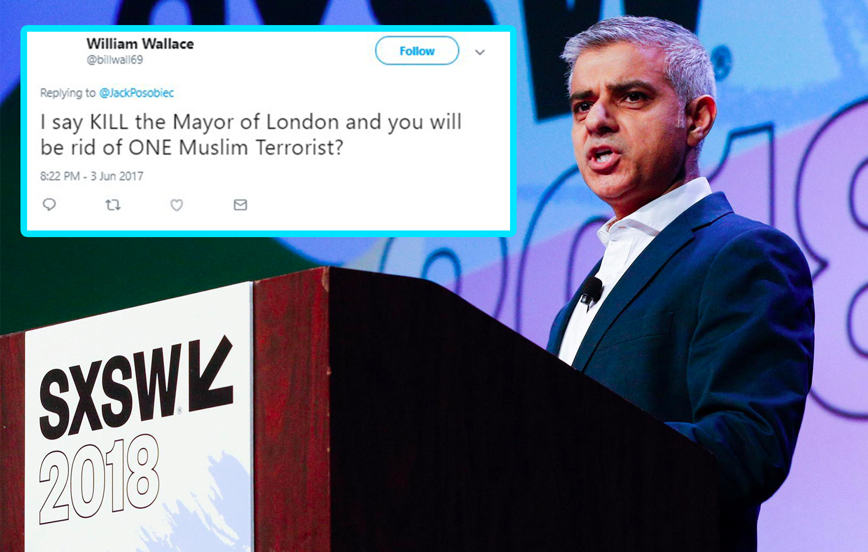 Sadiq Khan speaks out about Islamophobic tweets