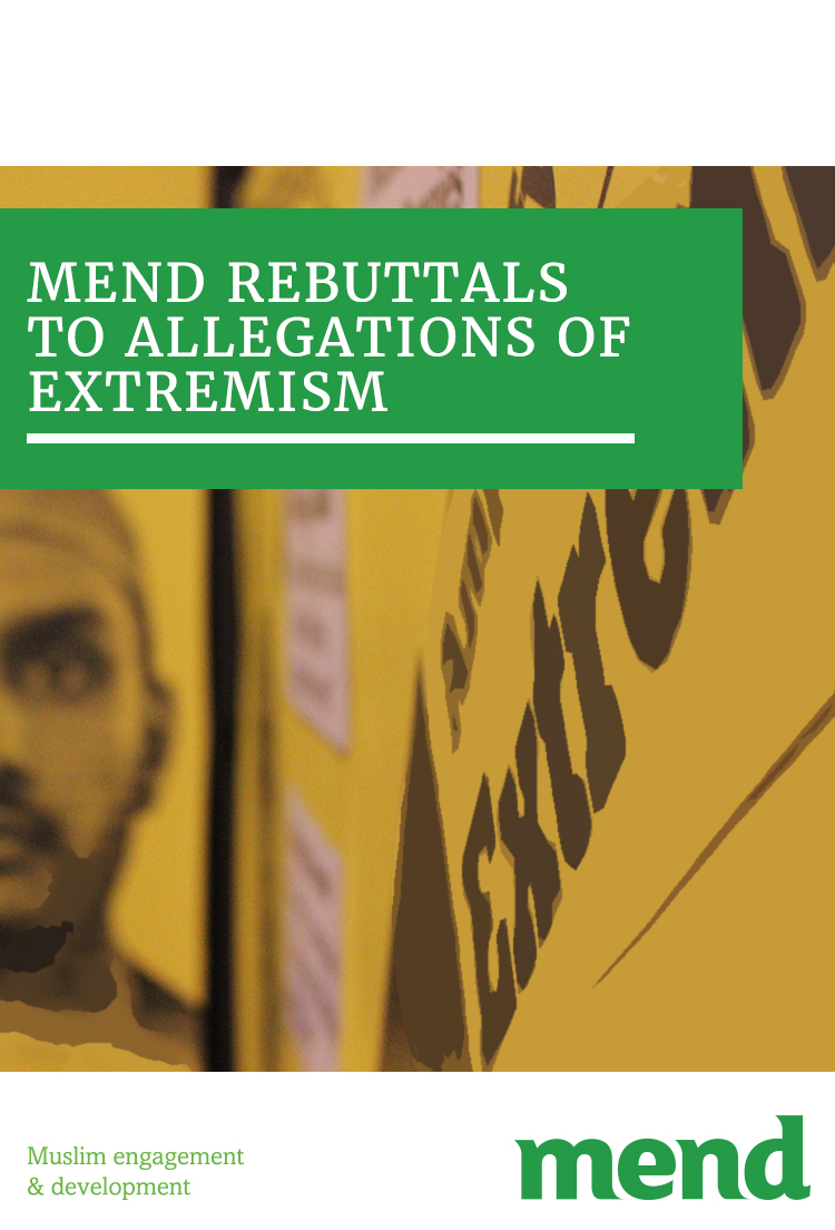 MEND rebuttals to allegations of extremism 16.03.18