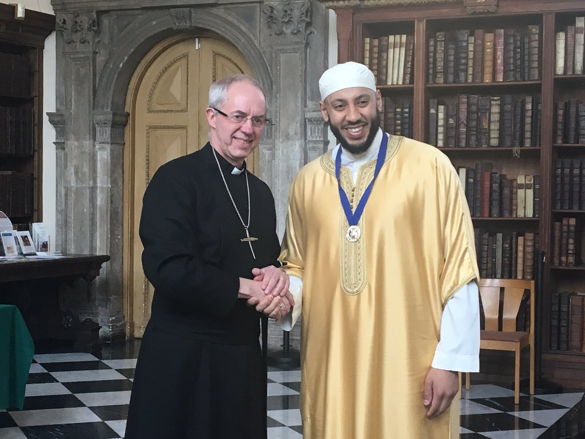 Archbishop of Canterbury recognises bravery of Imam Mahmoud during Finsbury Park attack