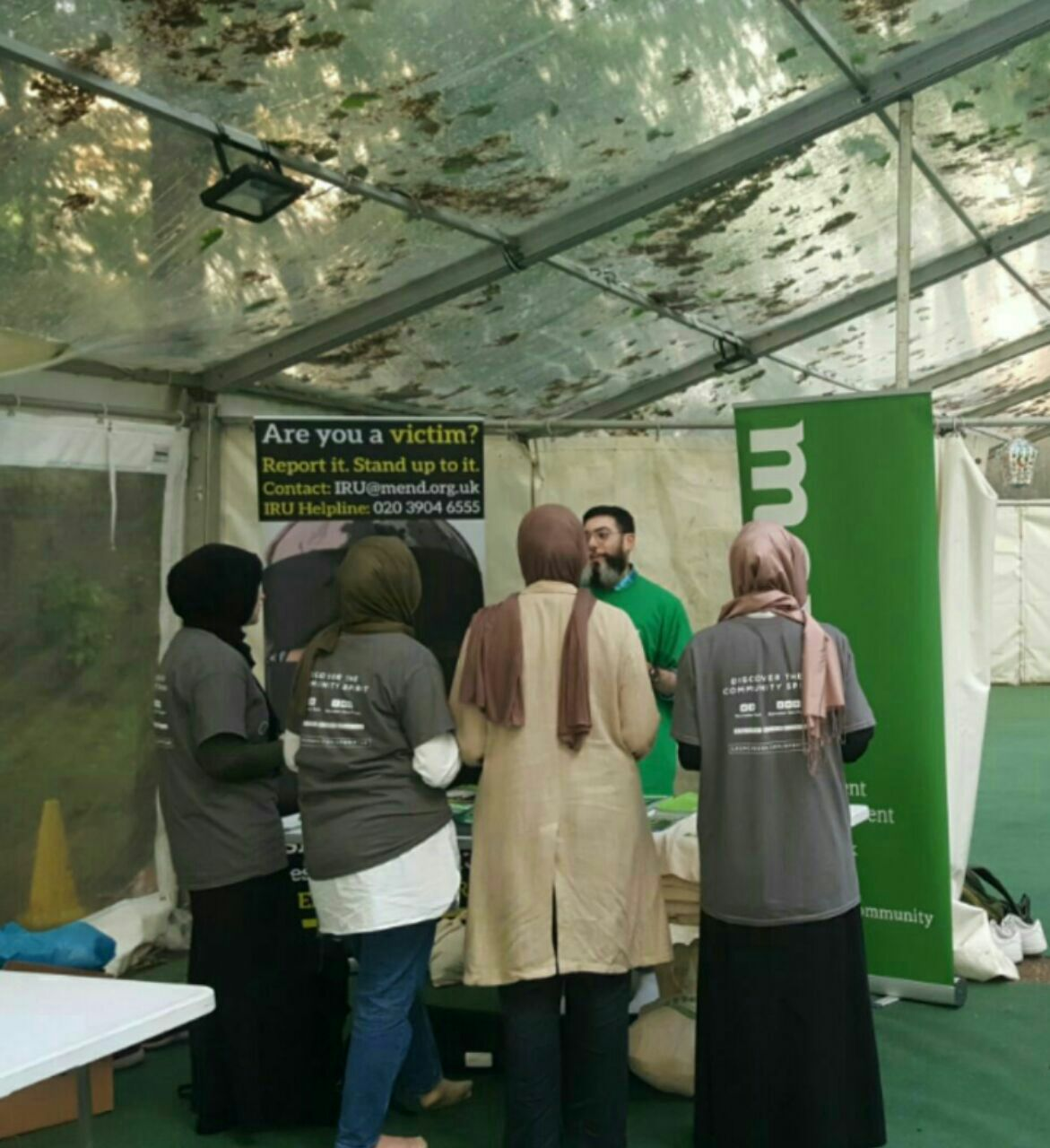IRU Stall at the Ramadan Tent Project