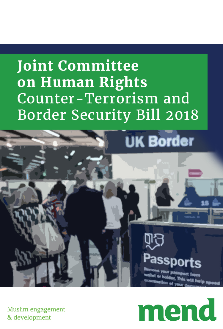 MEND Submission to the joint committee on human rights on the counter-terror bill