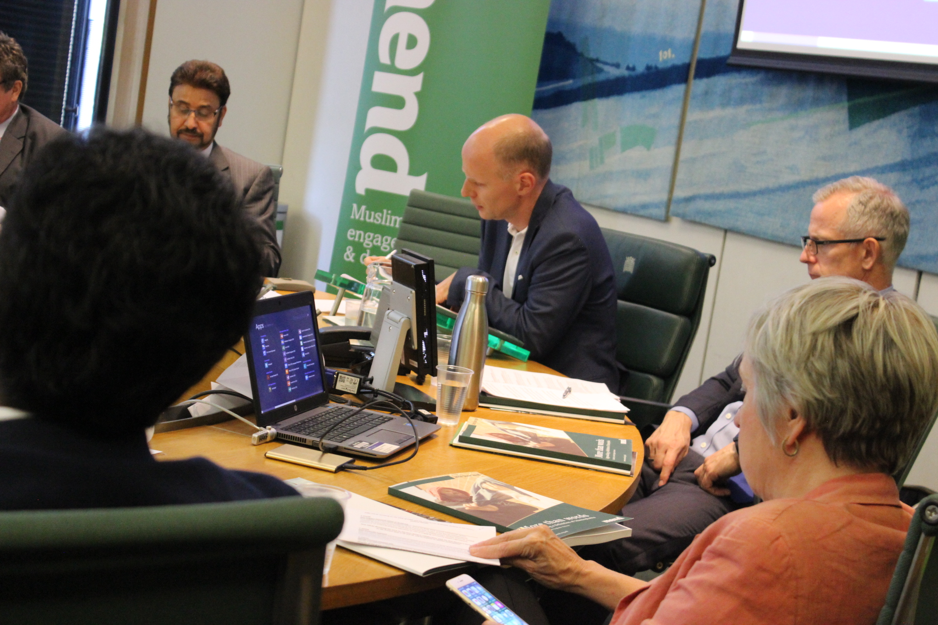 Parliamentarians celebrate launch of report exploring and defining Islamophobia.