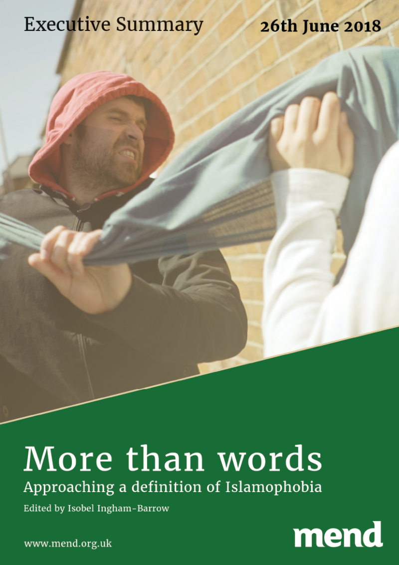 More than words – Approaching a definition of Islamophobia – Executive Summary