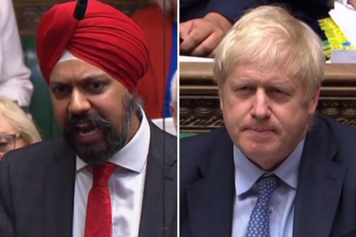 Tanmanjeet Singh Dheshi vs Boris Johnson
