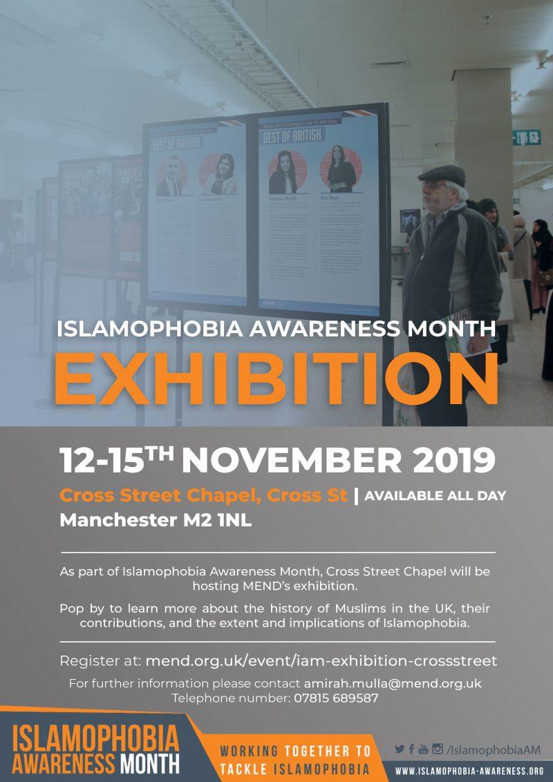 Cross Street Chapel: Islamophobia Awareness Month Exhibition