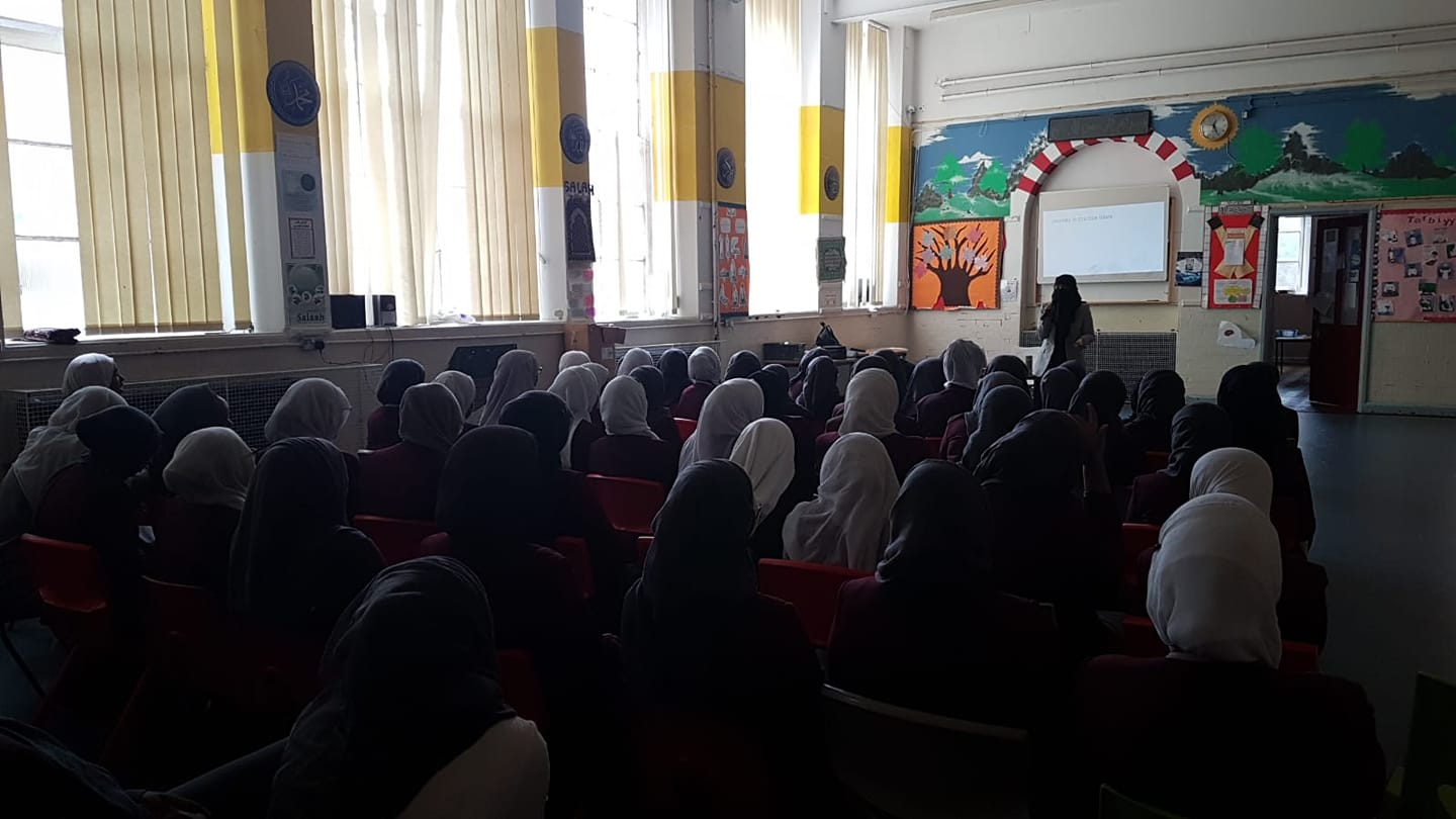 Speaking at the Enrichment Week of Andalusia School, Bristol