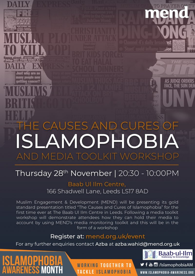 The Causes and Cures of Islamophobia and Media Workshop