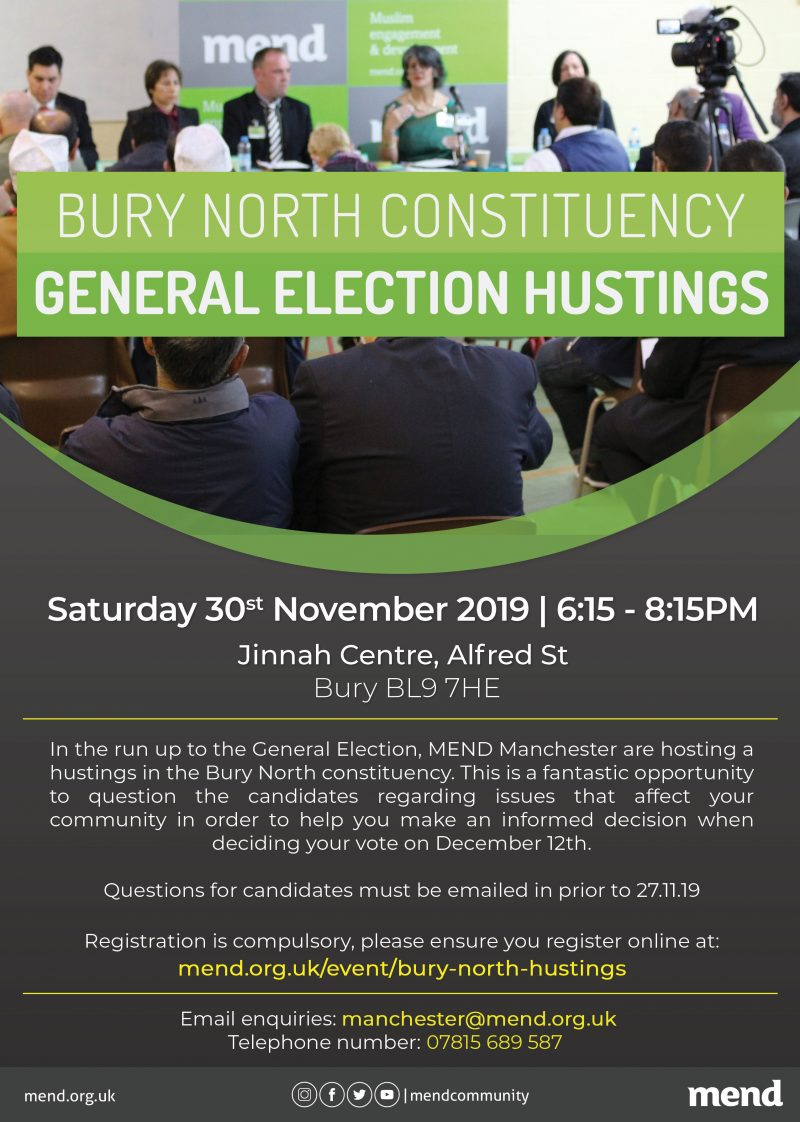 Bury North Constituency: General Election Hustings