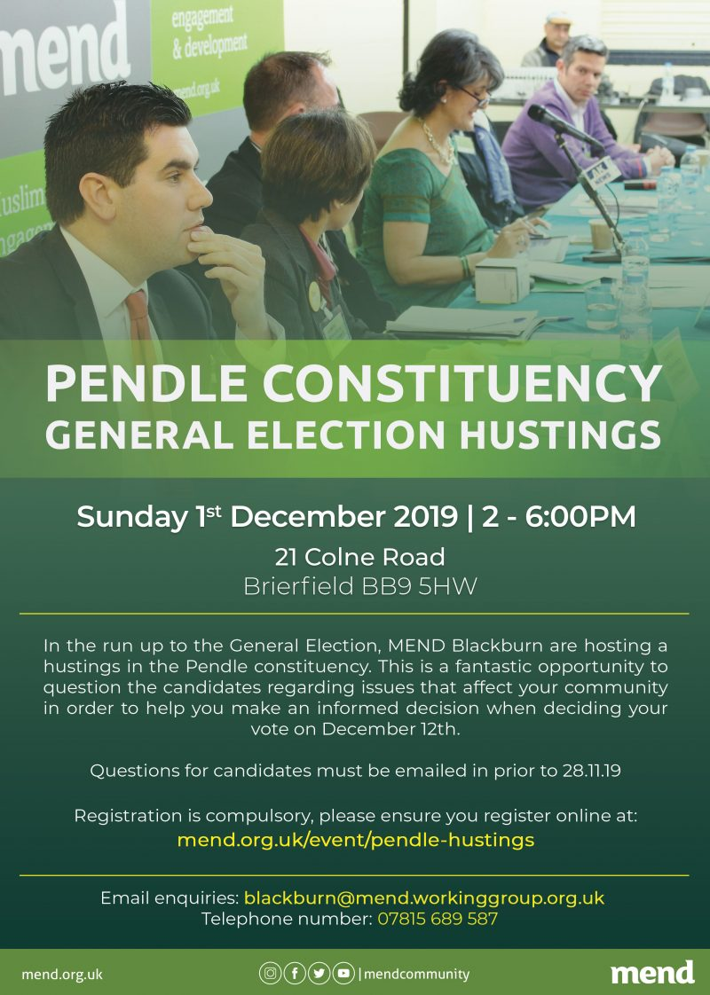 Pendle Constituency: General Election Hustings