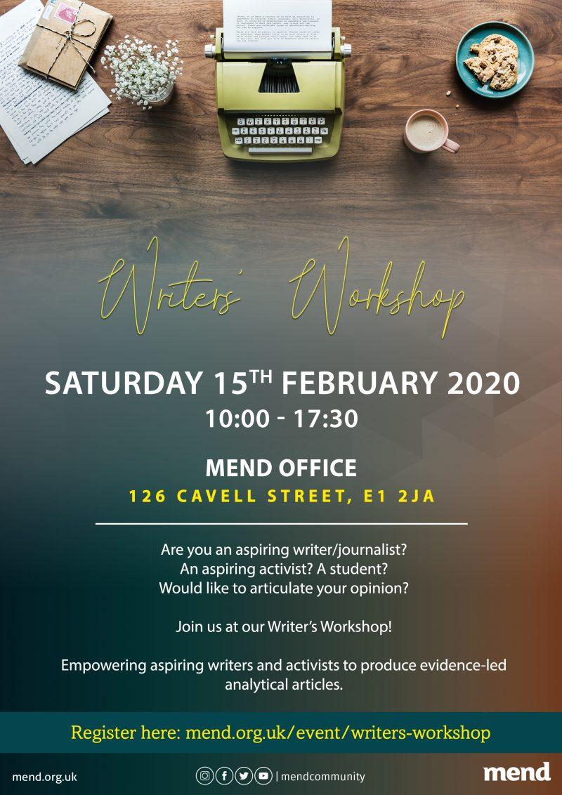 Writers' Workshop: 8th February 2020