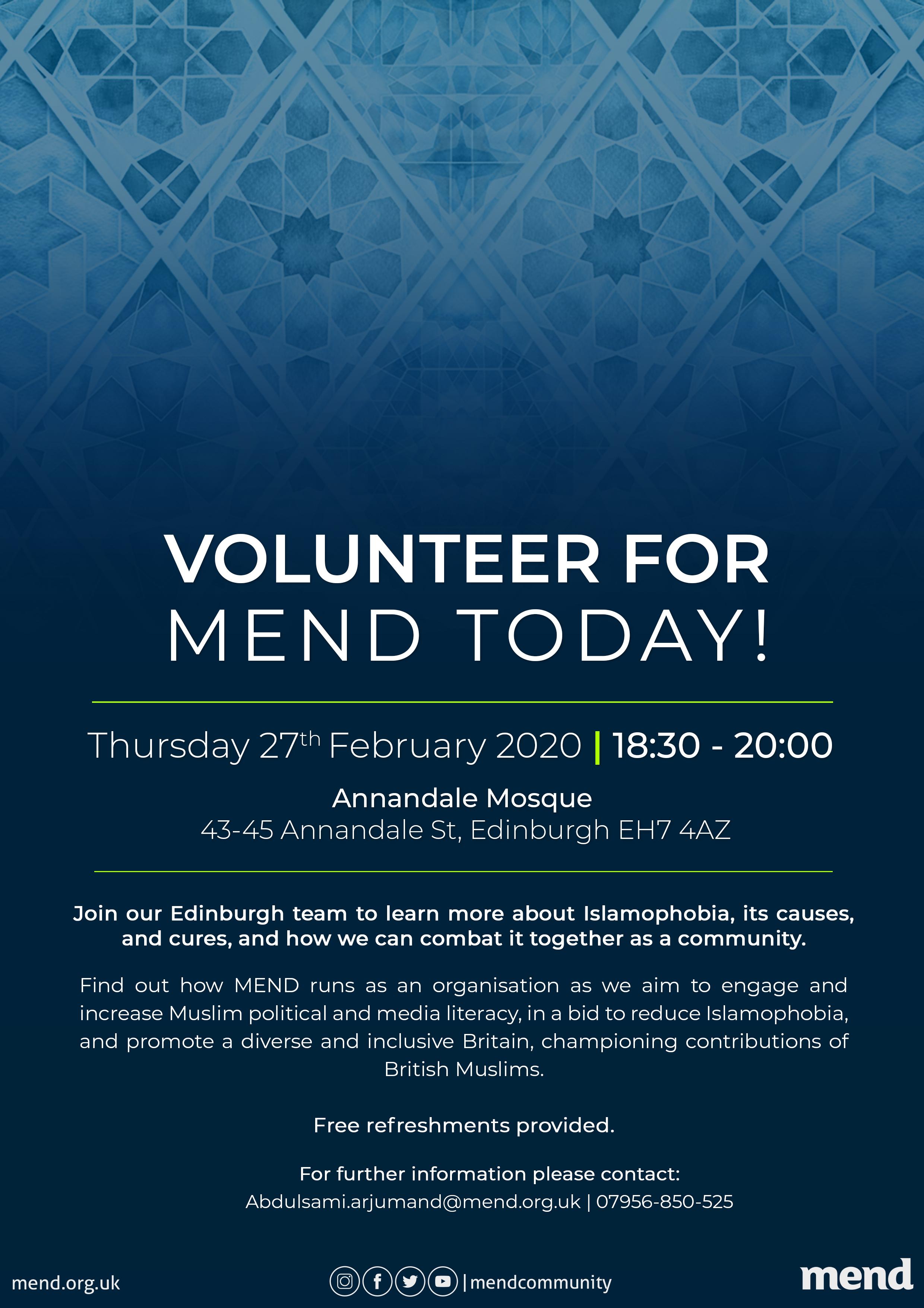 Volunteer for MEND Today!