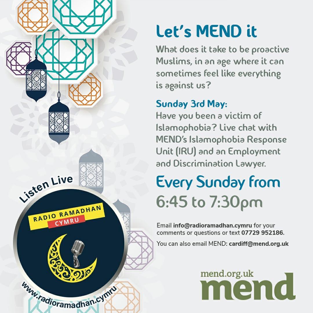 Let's MEND it! On Radio Ramadan – Cymru