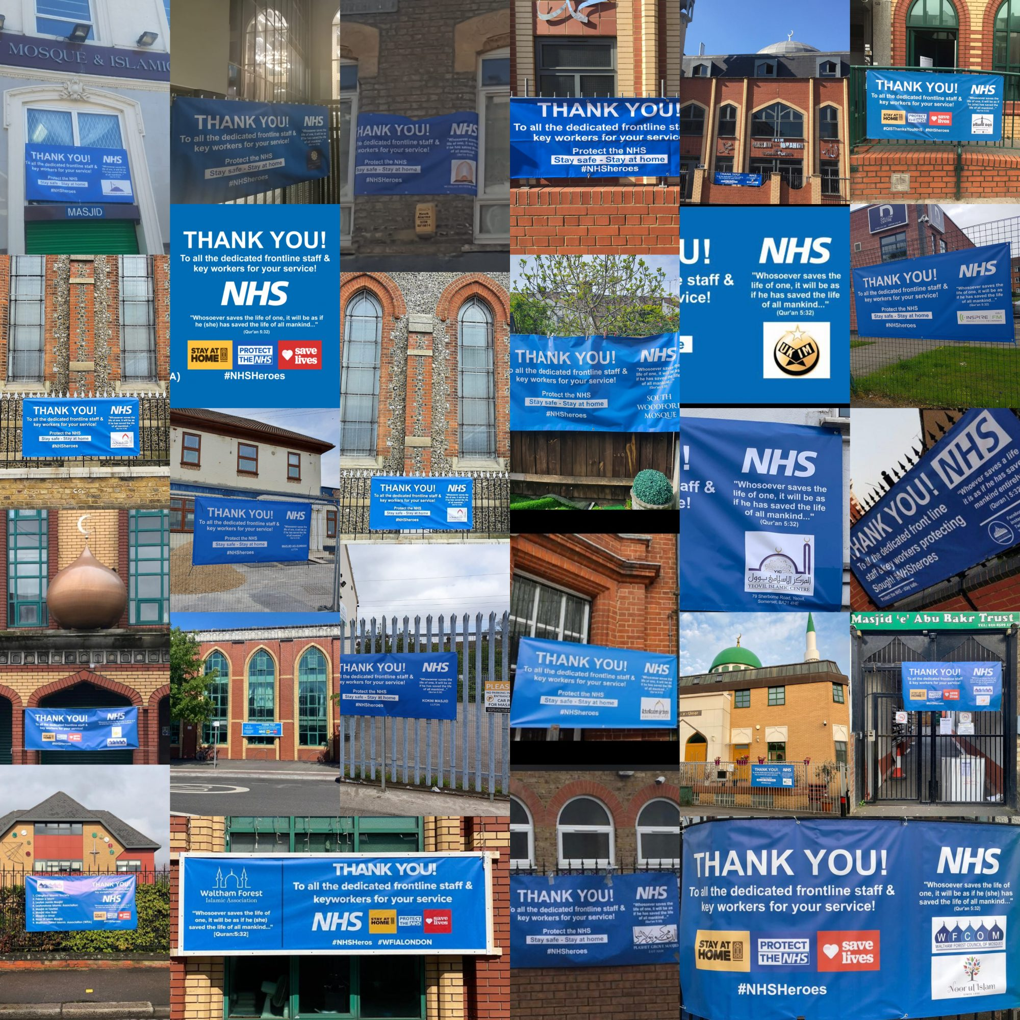 London Mosques Say Thank You NHS!