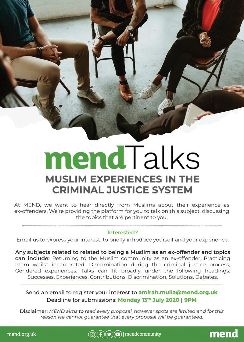 MENDTalks: Muslim Experiences in the Criminal Justice System