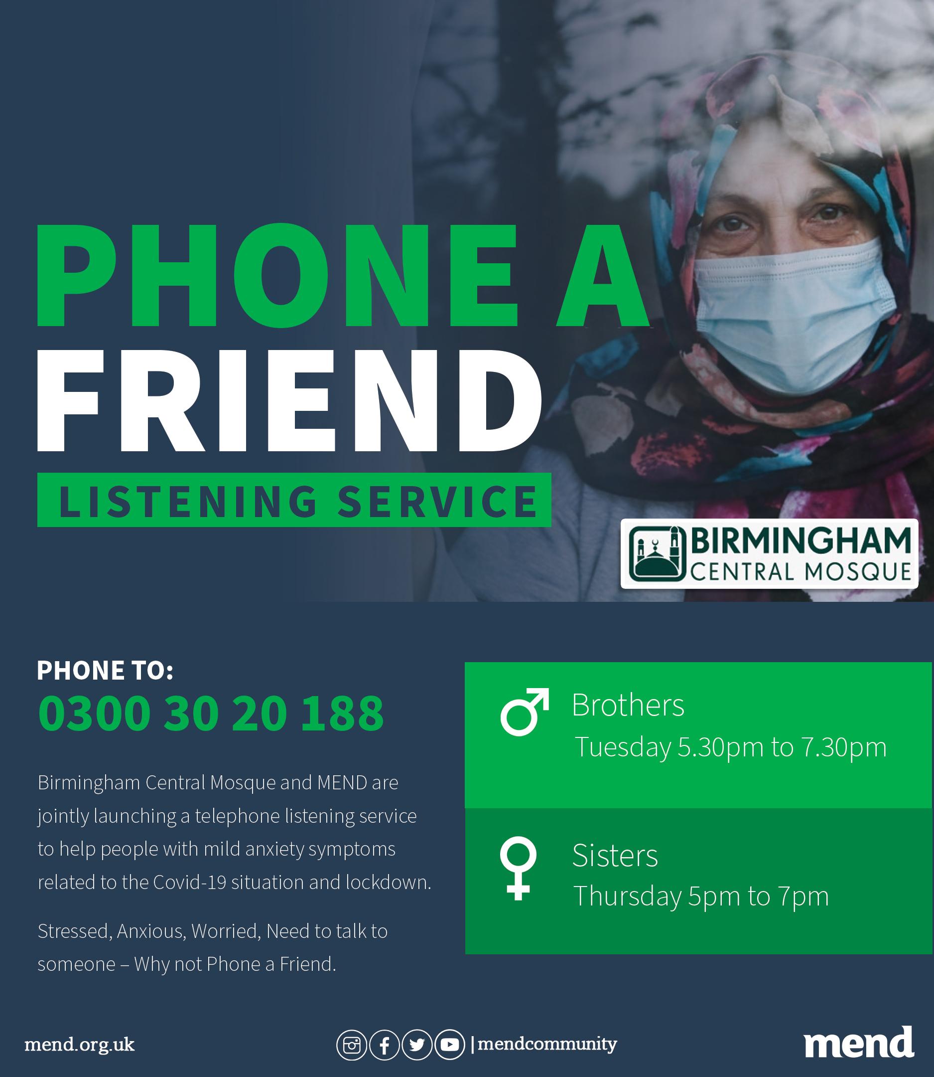 Phone a Friend Listening Service