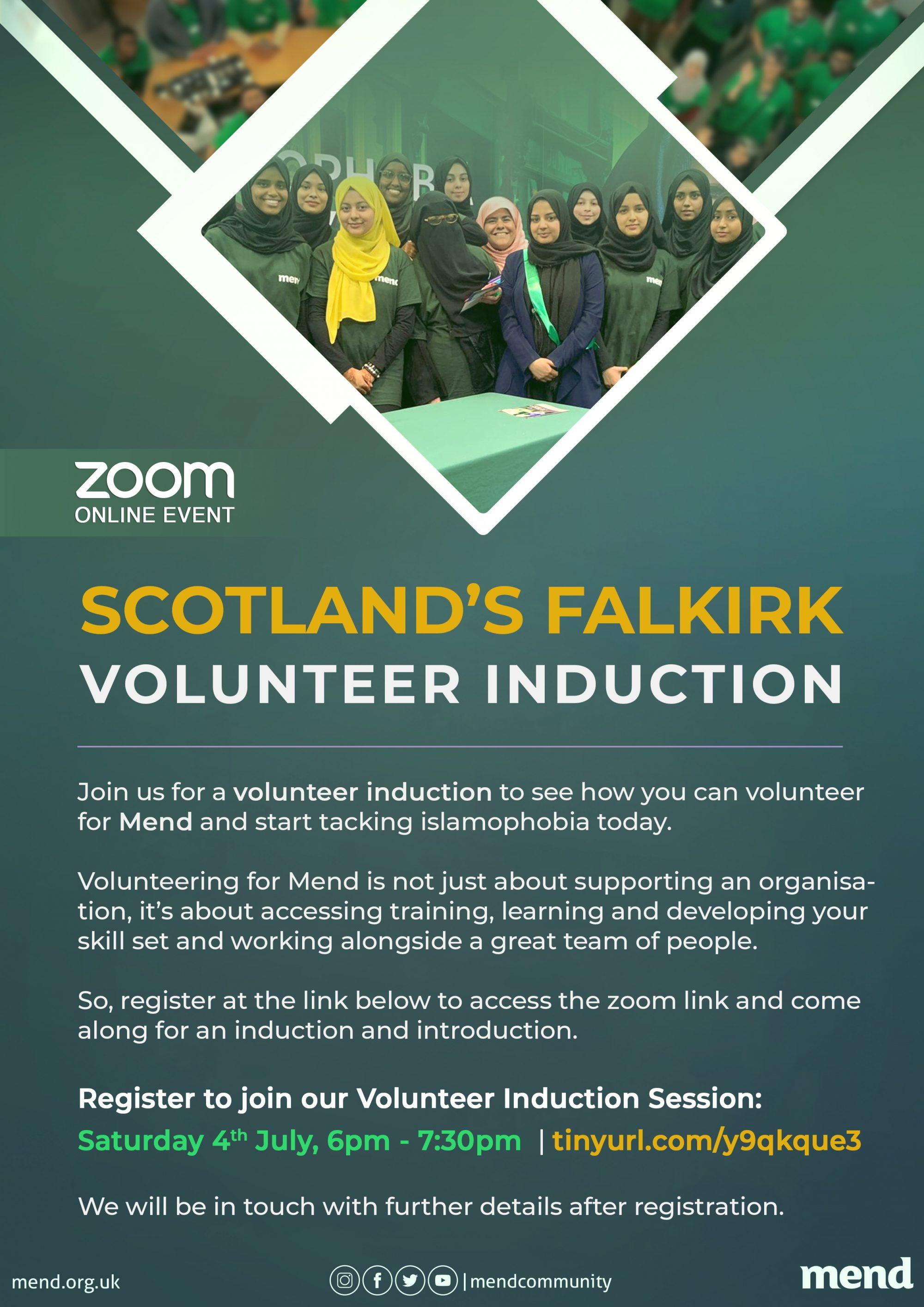 MEND New Volunteer Induction, Falkirk Scotland.