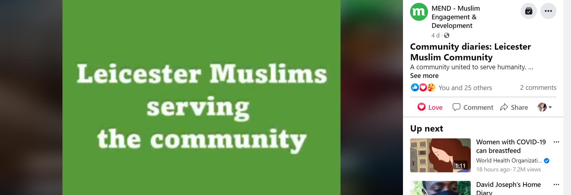Leicester Muslims: A Community united to serve Humanity.