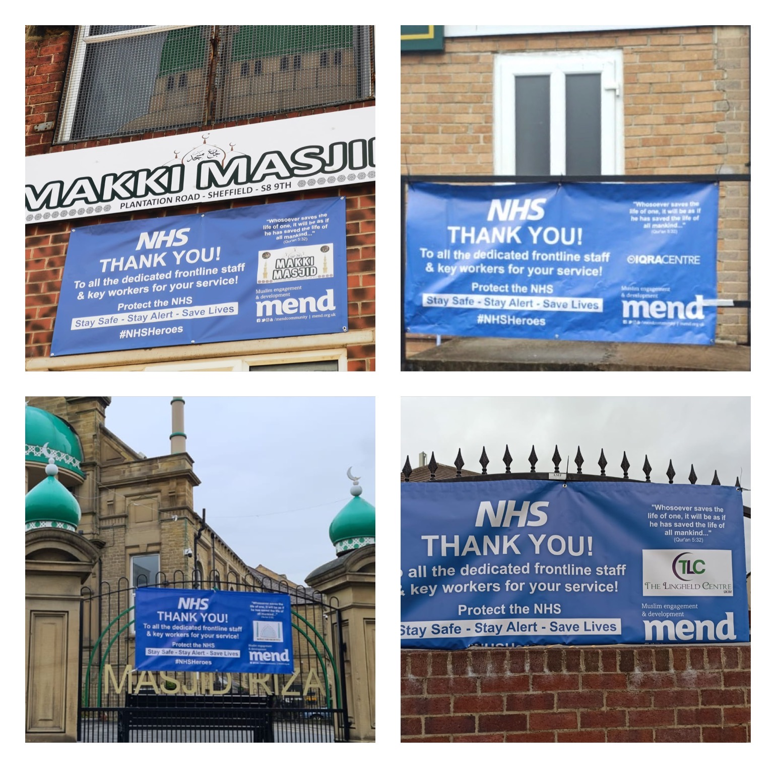 Yorkshire Mosques give their thanks to the NHS!