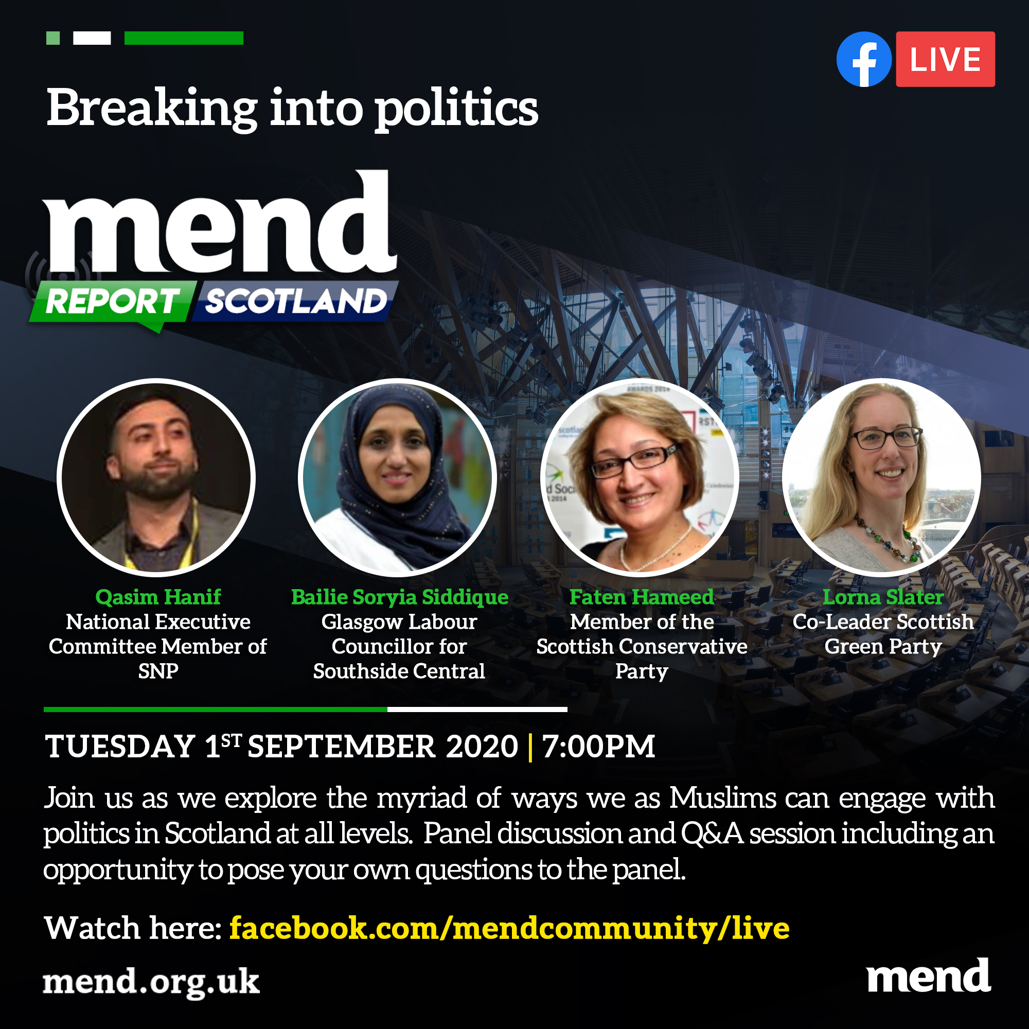 MEND report Scotland: Breaking in to politics