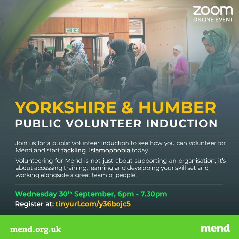 Yorkshire Volunteer Induction September 2020 (Online)
