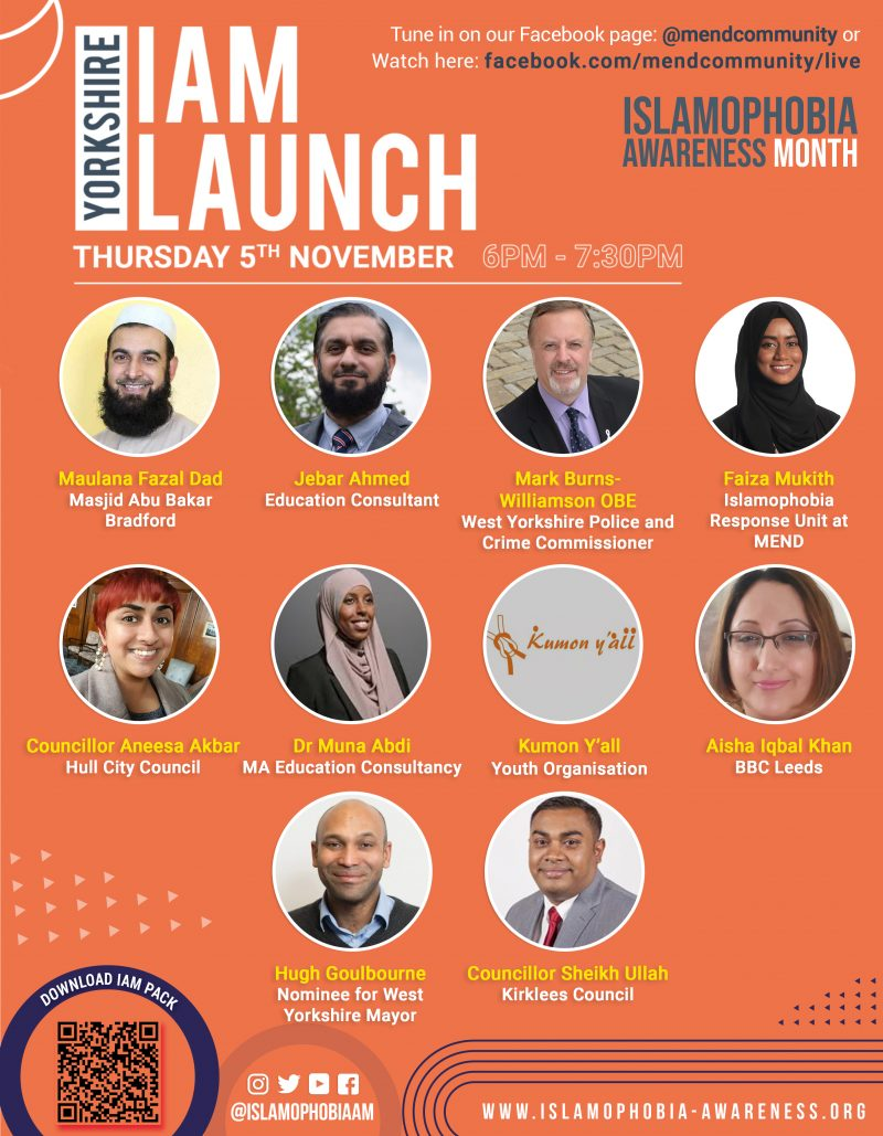 Islamophobia Awareness Month 2020: Yorkshire and the Humber Launch